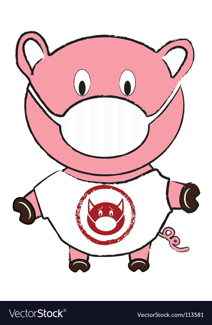 Swine flu vector | Price: 1 Credit (USD $1)