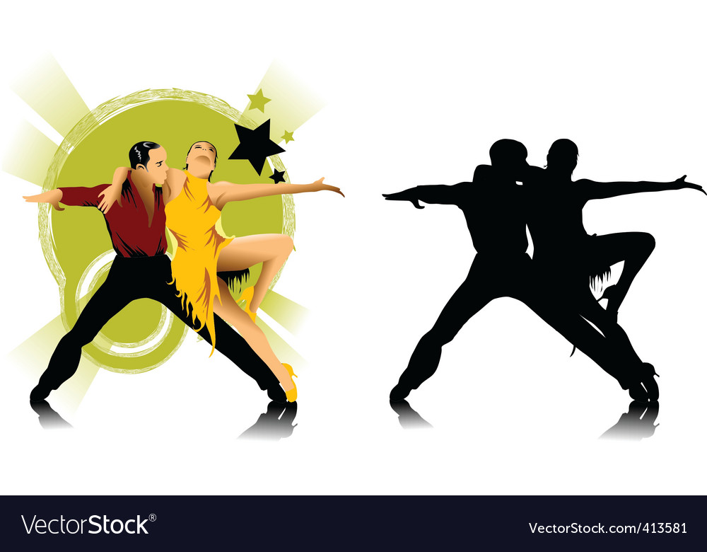 Tango dance vector | Price: 1 Credit (USD $1)