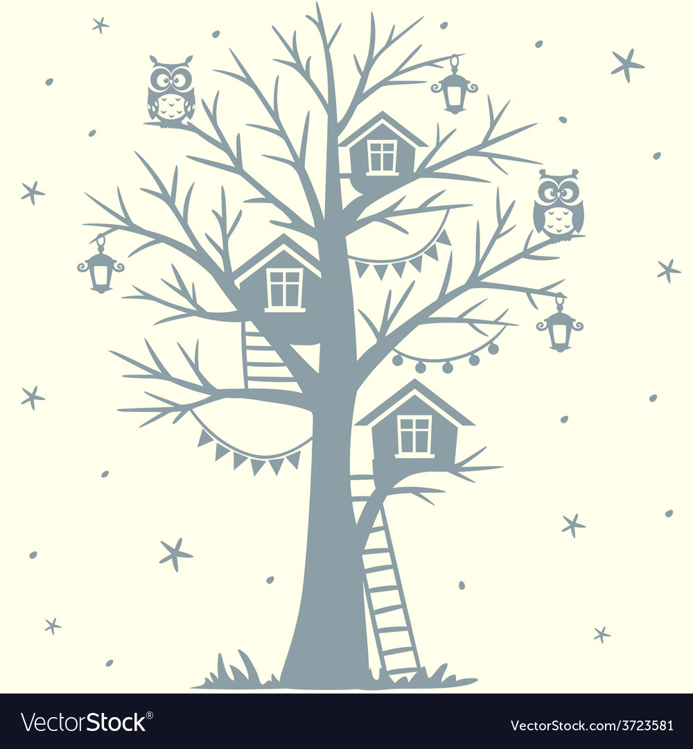 Treehouse vector | Price: 1 Credit (USD $1)
