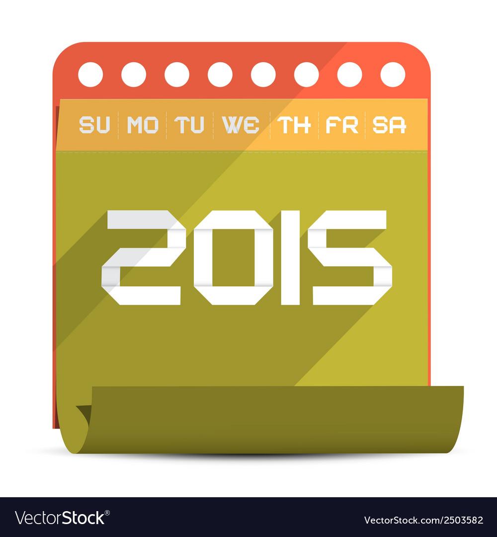 2015 paper calendar vector | Price: 1 Credit (USD $1)