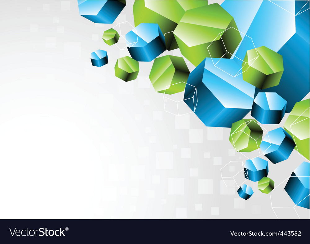 3d hexagon vector | Price: 1 Credit (USD $1)