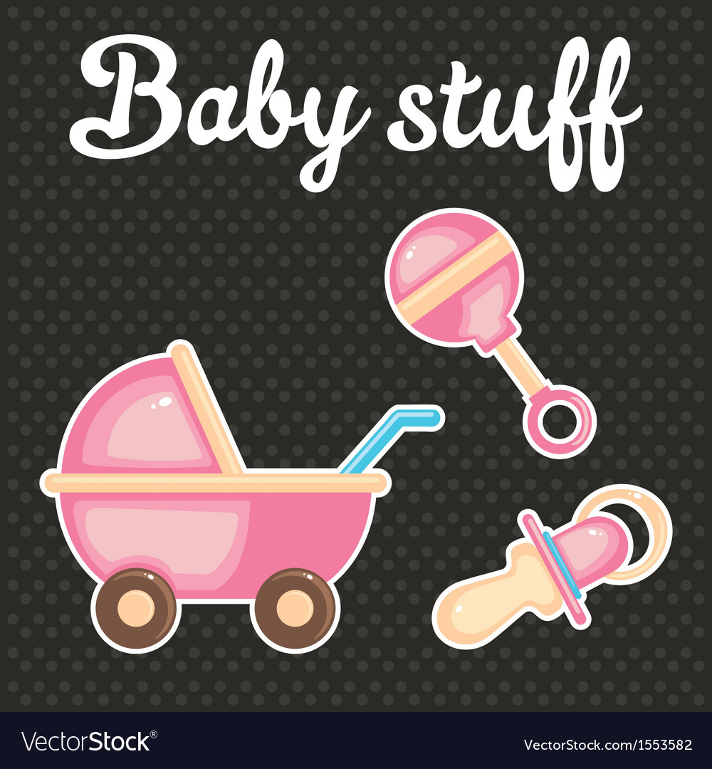Baby scrapbook icon collection vector | Price: 1 Credit (USD $1)