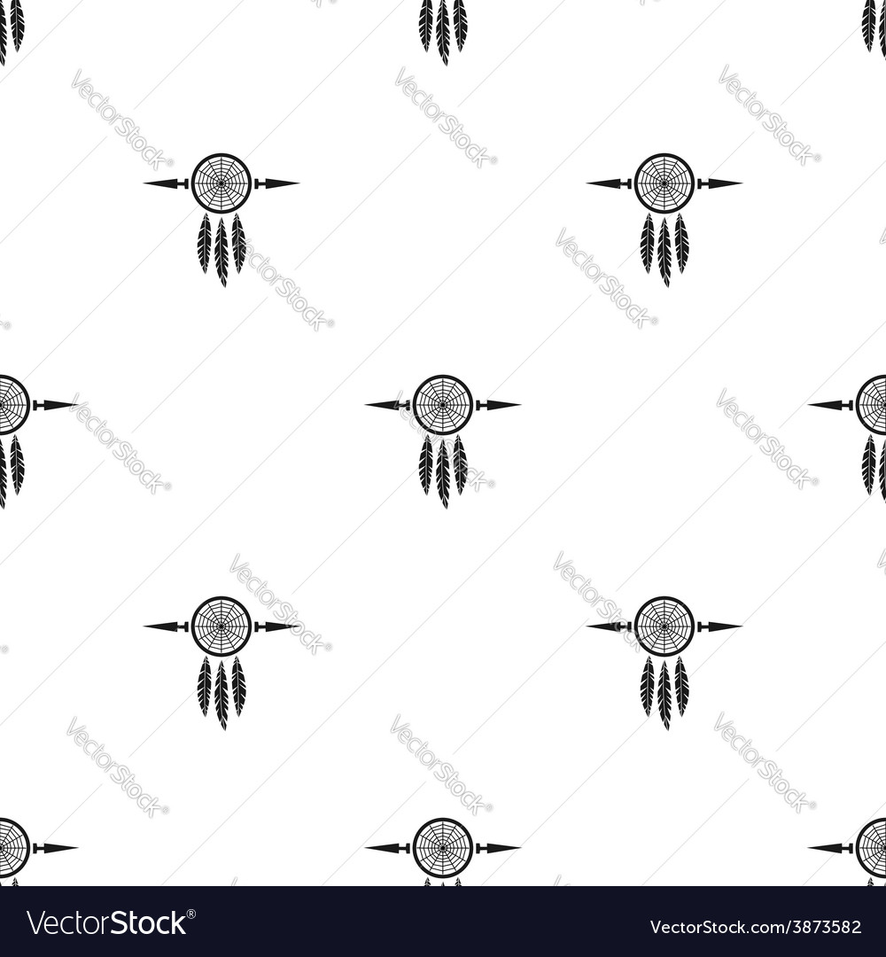 Dream catchers seamless background vector | Price: 1 Credit (USD $1)