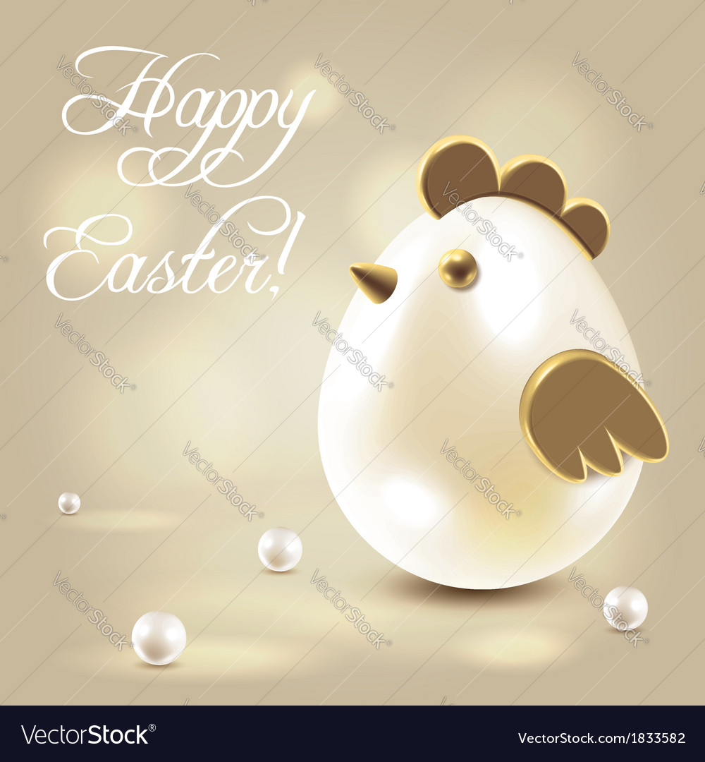 Easter greetings postcard vector | Price: 1 Credit (USD $1)