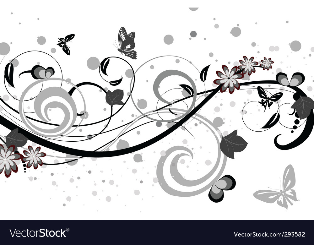 Floral fantasy pattern vector | Price: 1 Credit (USD $1)
