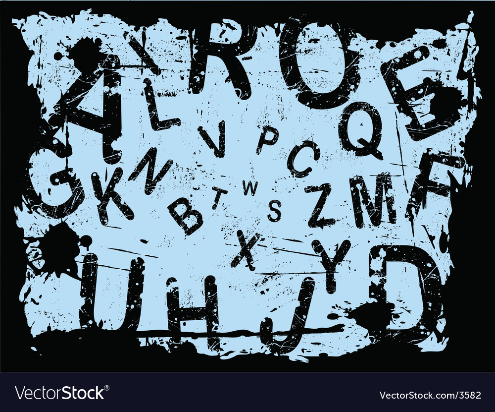 Letter grunge vector | Price: 1 Credit (USD $1)