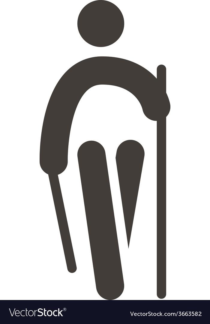 Nordic walking icon vector | Price: 1 Credit (USD $1)
