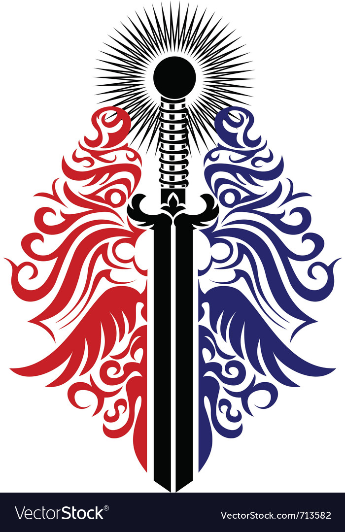 Ornate blade vector | Price: 1 Credit (USD $1)