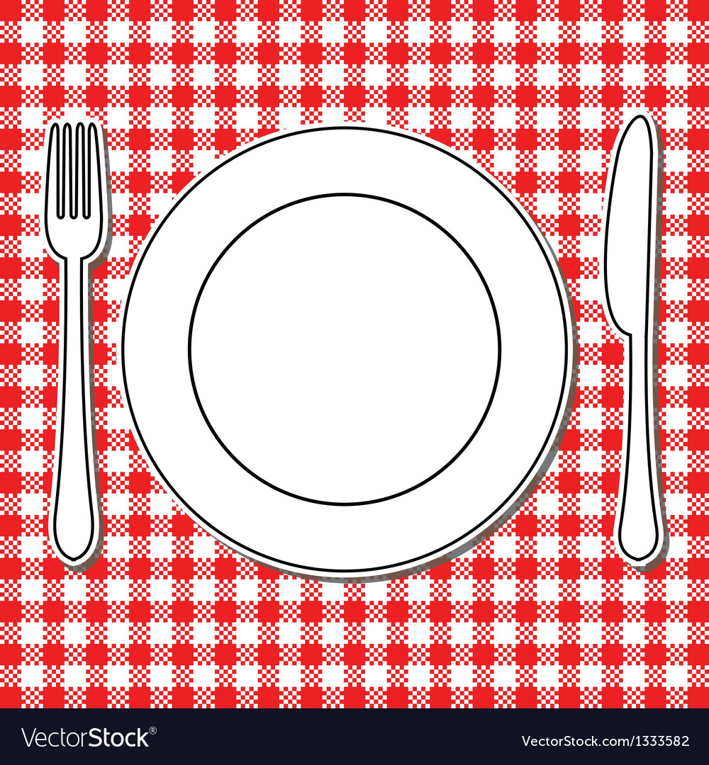 Plate fork and knife vector | Price: 1 Credit (USD $1)