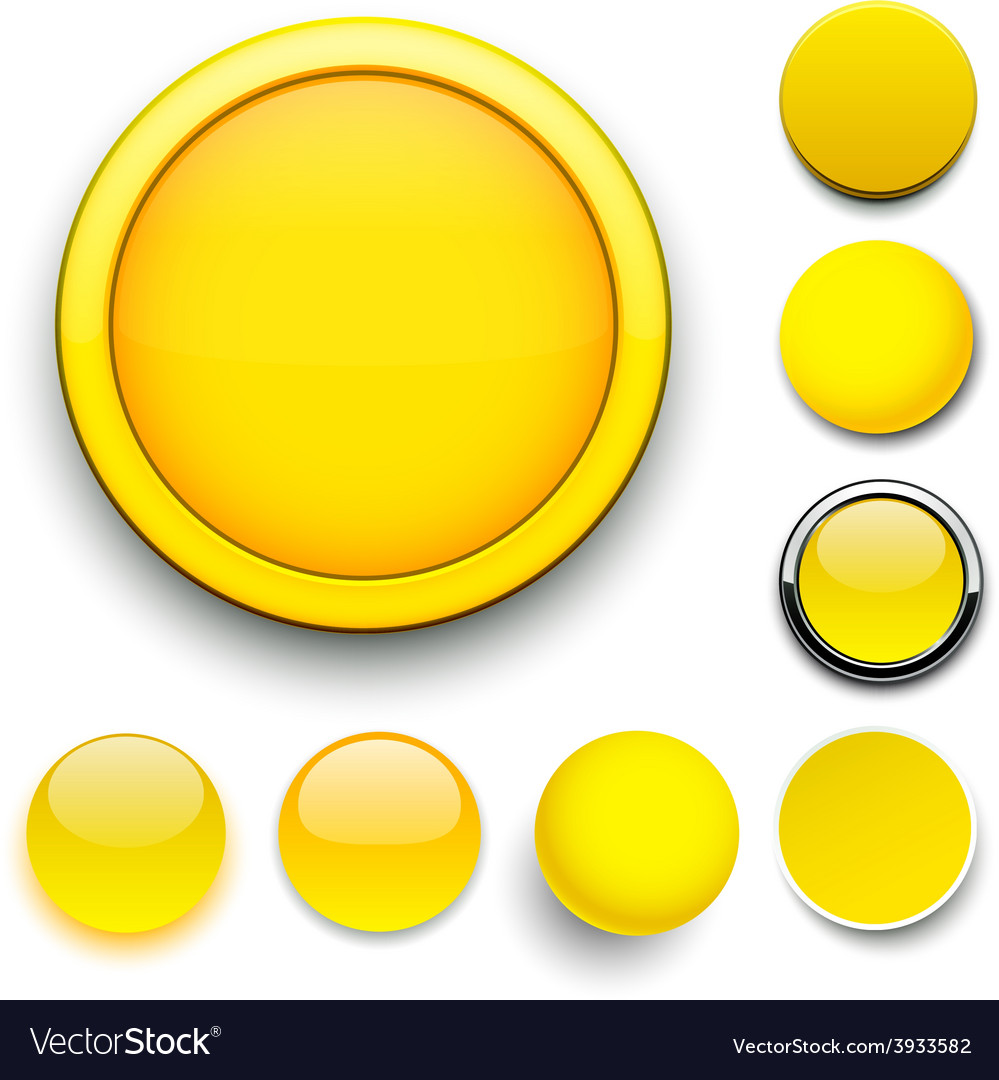 Round yellow icons vector | Price: 1 Credit (USD $1)