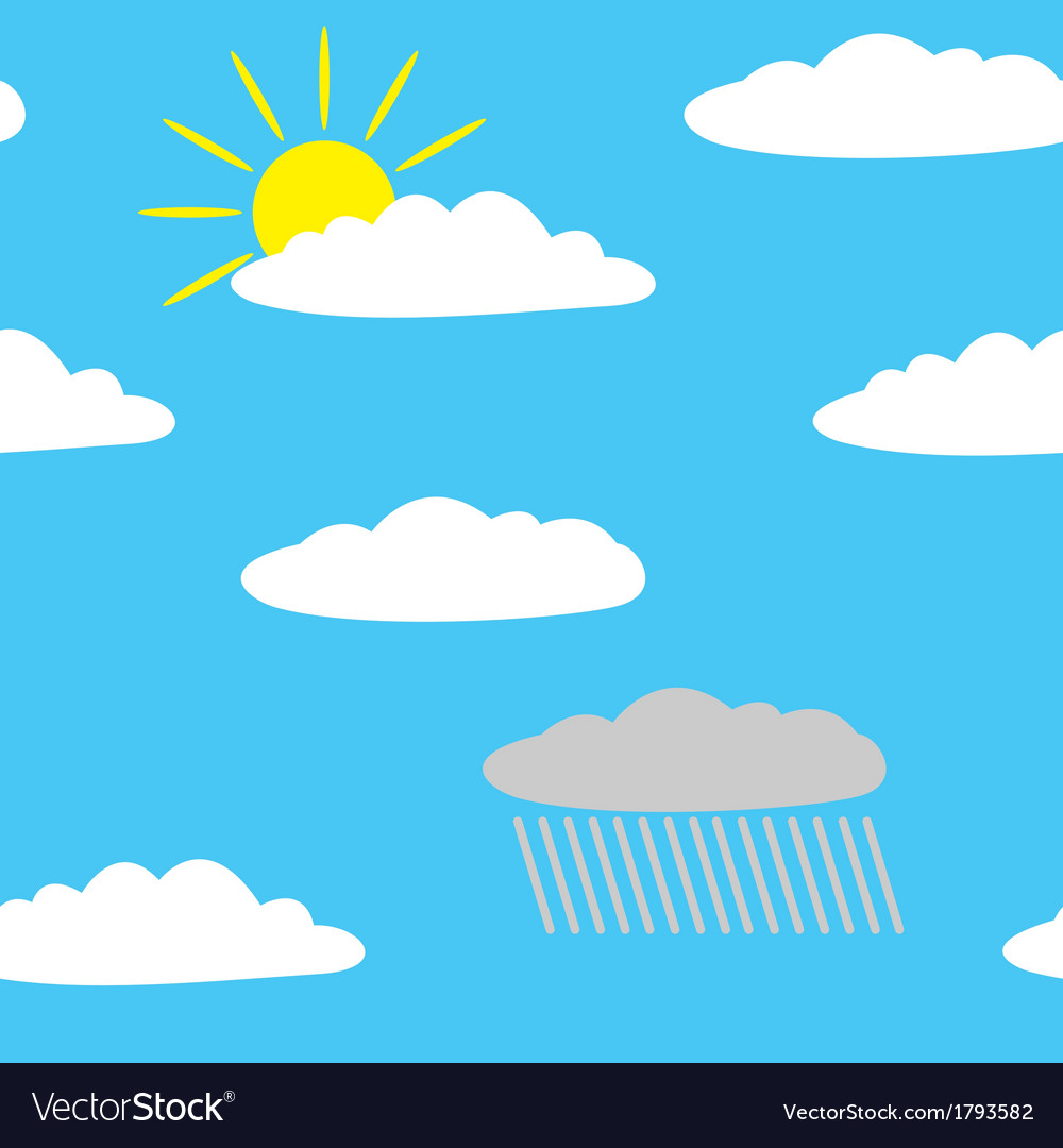 Simless clouds in heaven vector | Price: 3 Credit (USD $3)