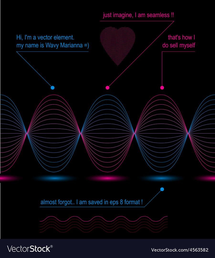 Slender 3d textile motif dark background heart vector | Price: 1 Credit (USD $1)