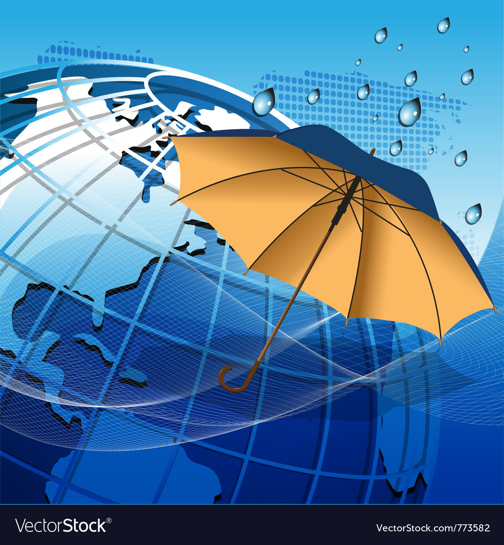 Texture globe umbrella vector | Price: 3 Credit (USD $3)