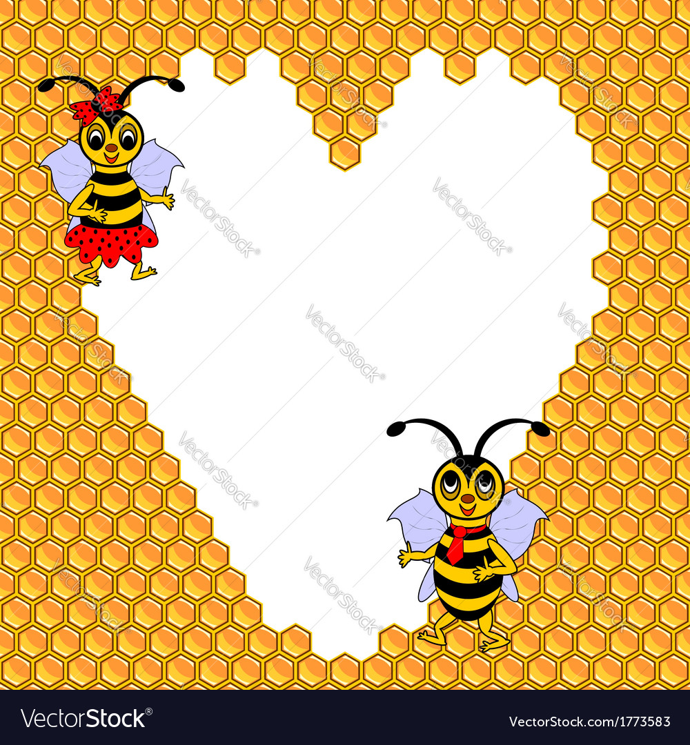 A couple of two funny cartoon bees vector | Price: 1 Credit (USD $1)