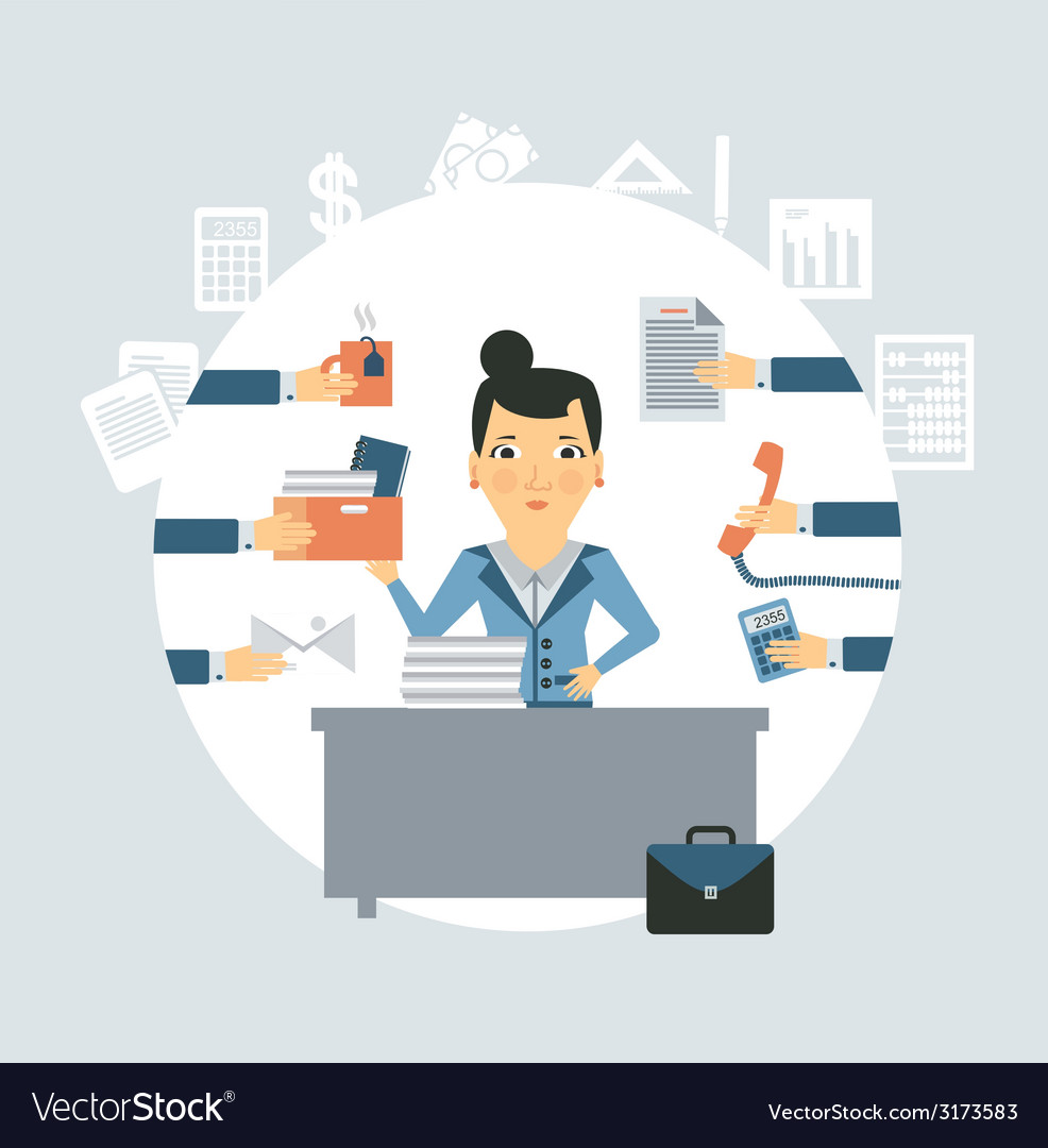 Accountant all needed in the workplace vector