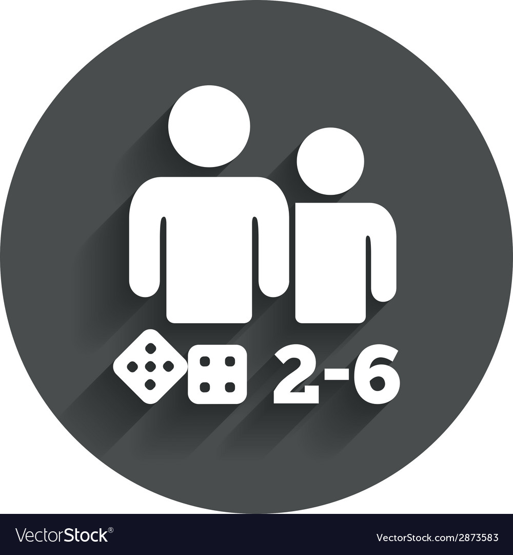 Board games sign icon 2-6 players symbol vector | Price: 1 Credit (USD $1)