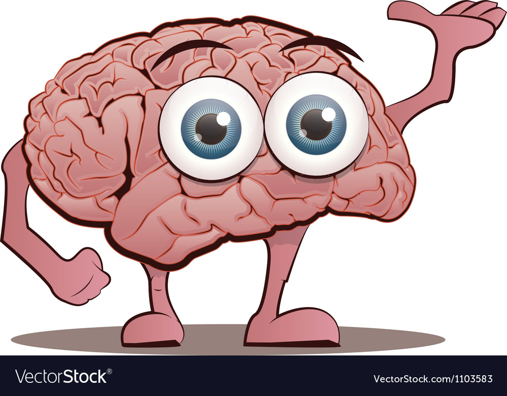 Brain character with hands and feet vector | Price: 3 Credit (USD $3)