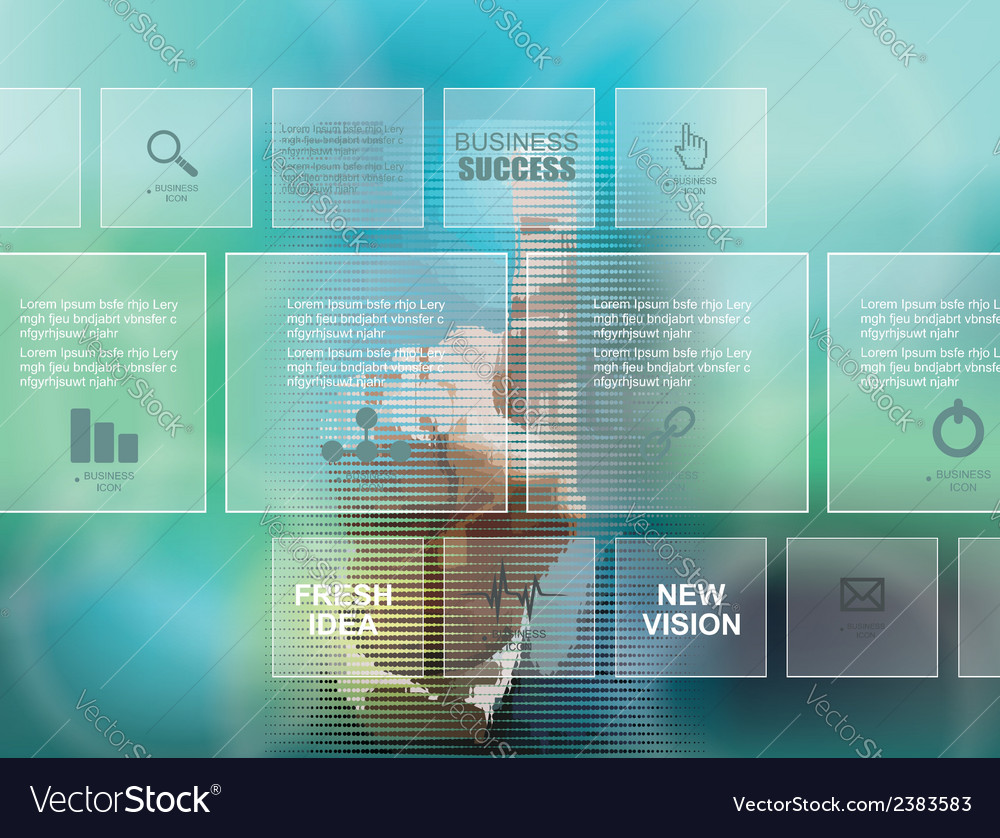 Businessman pressing business diagram vector | Price: 1 Credit (USD $1)