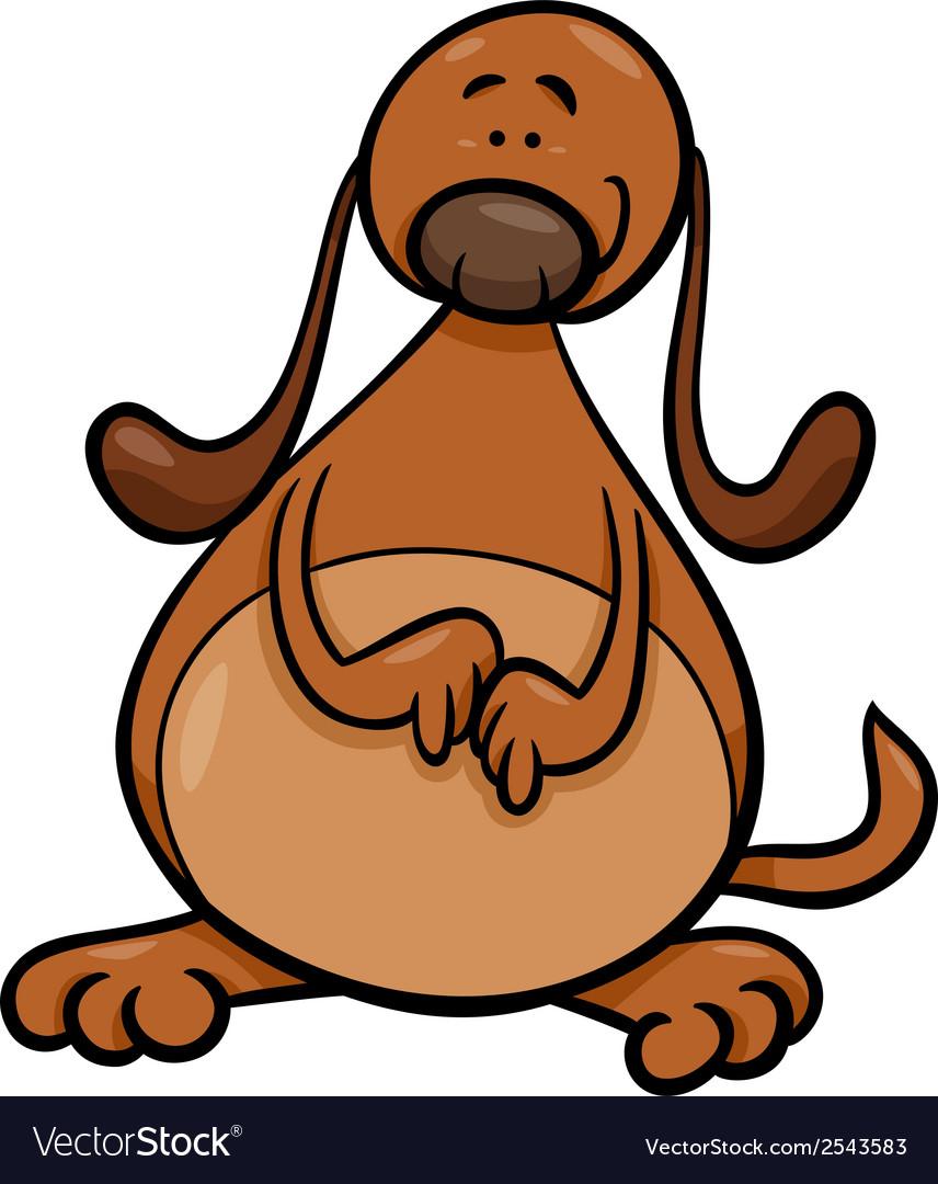 Cute dog cartoon vector | Price: 1 Credit (USD $1)