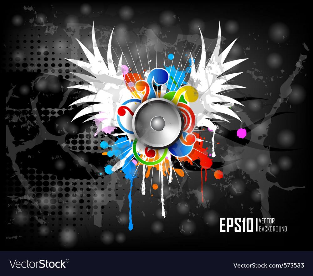 Dark scratch grunge background vector | Price: 1 Credit (USD $1)