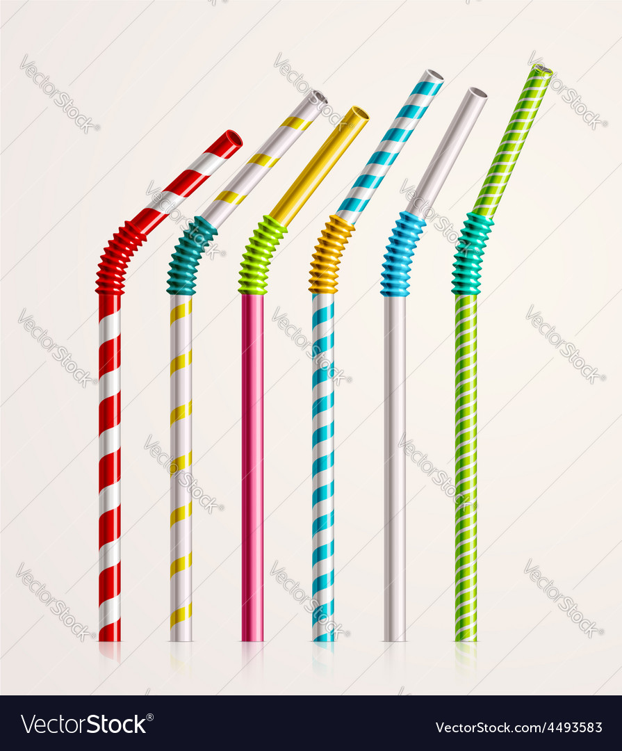 Drinking straws vector