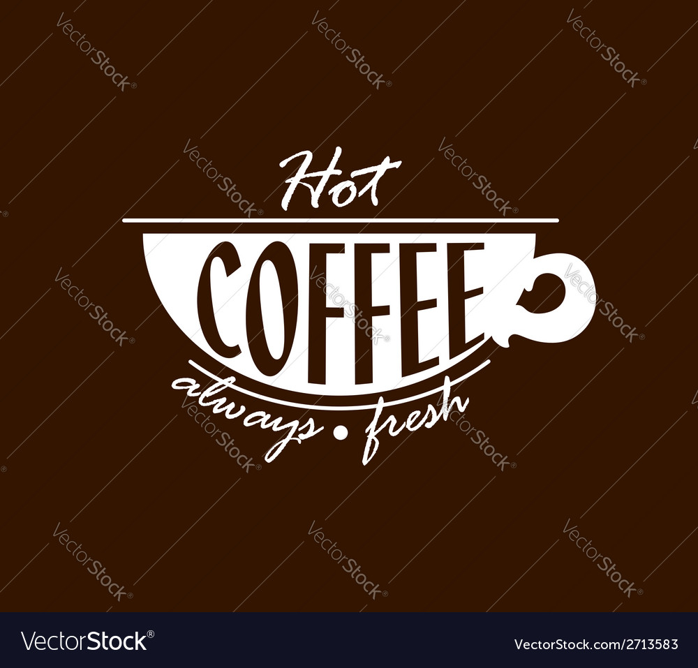 Hot coffee banner vector | Price: 1 Credit (USD $1)