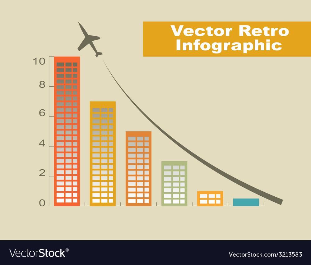 Retro infographic vector | Price: 1 Credit (USD $1)