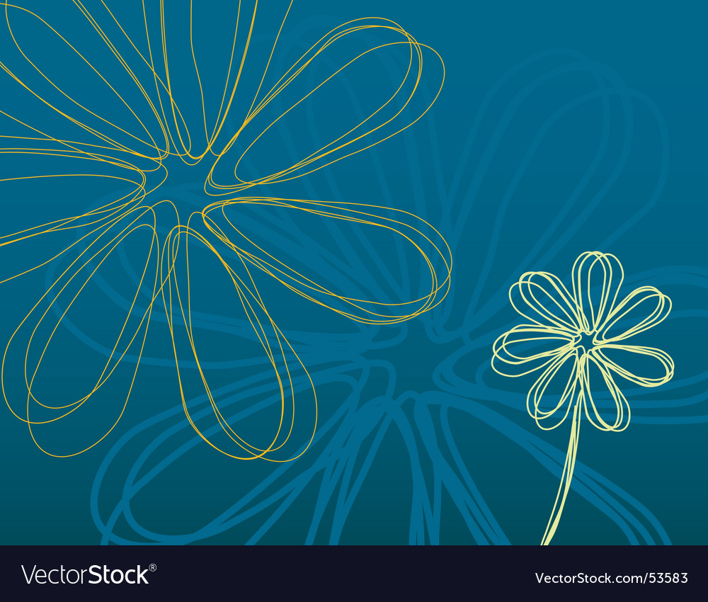 Teal flower power vector | Price: 1 Credit (USD $1)