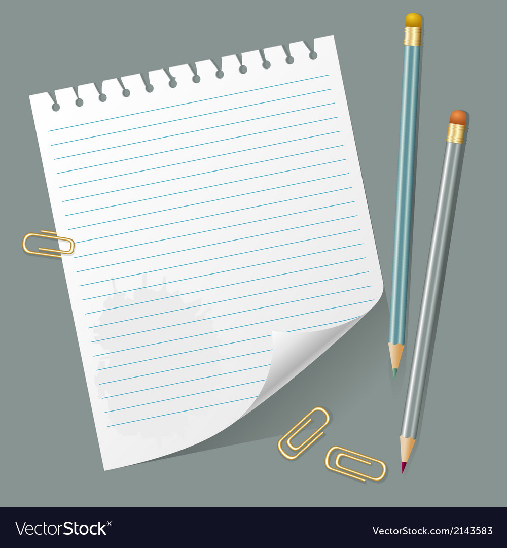 Torn out page and pencils vector | Price: 1 Credit (USD $1)