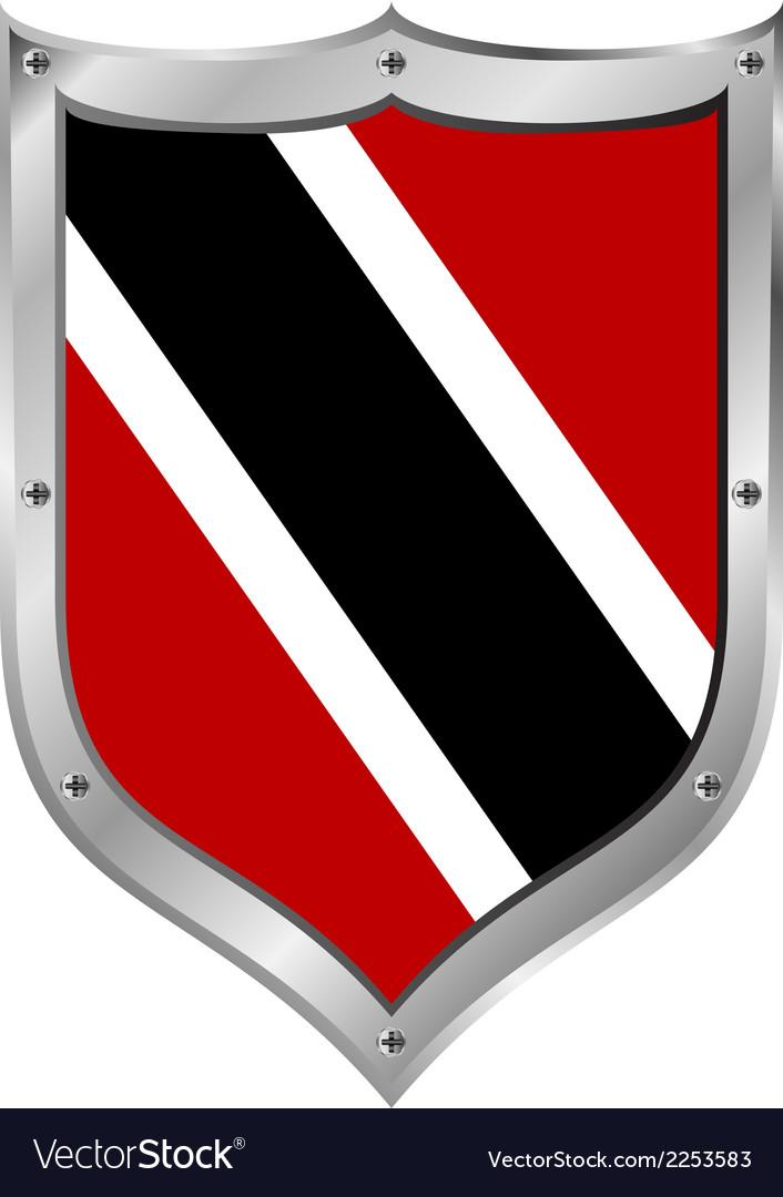 Trinidad and tobago flag button vector | Price: 1 Credit (USD $1)