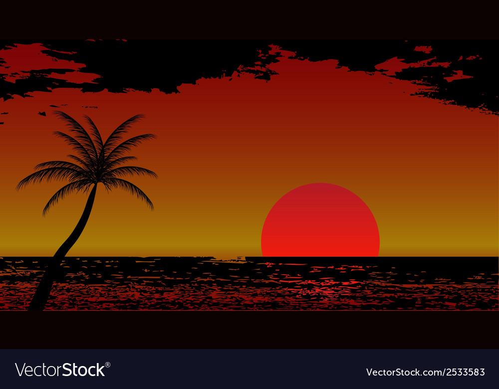 Warm sea sun vacation vector | Price: 1 Credit (USD $1)