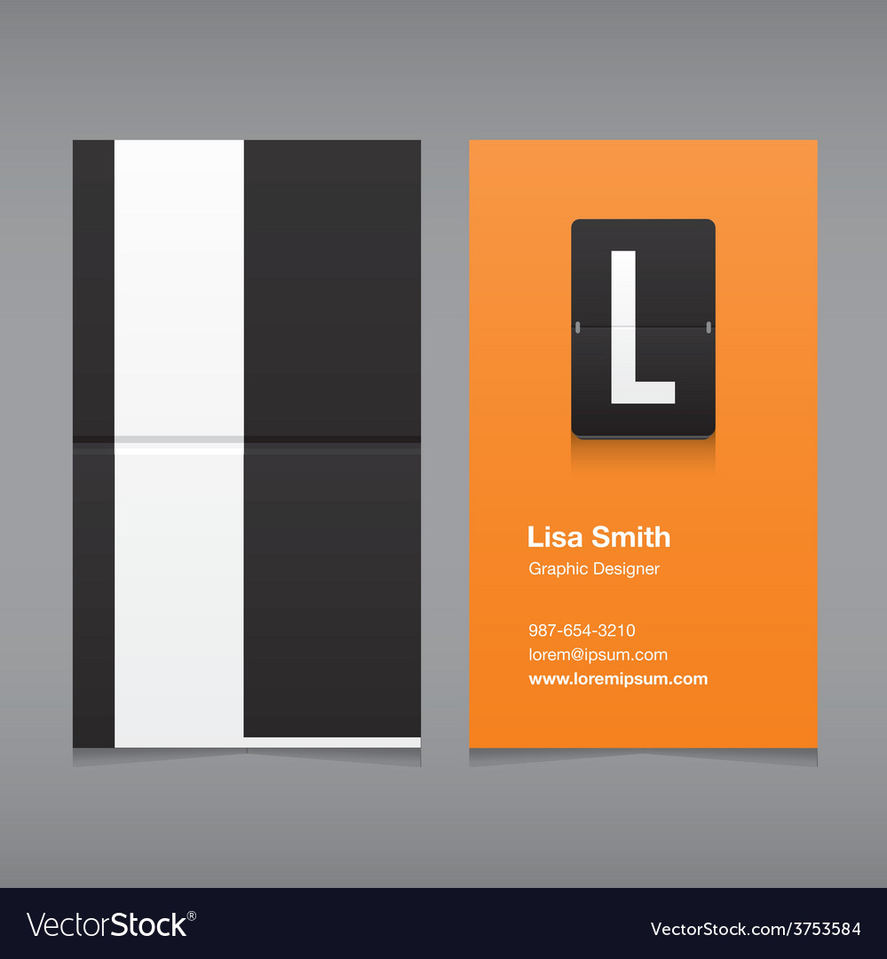 Business card letter l vector | Price: 1 Credit (USD $1)