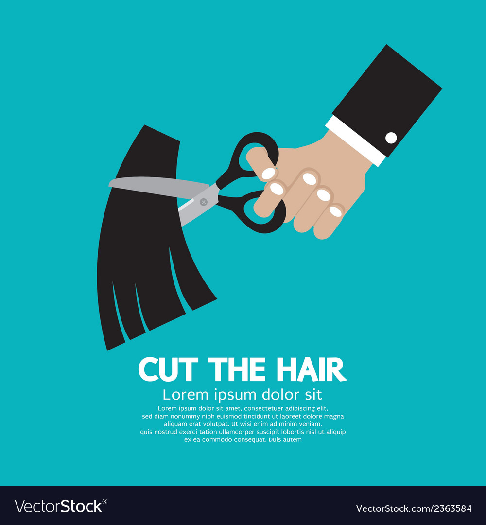 Cut the hair vector | Price: 1 Credit (USD $1)