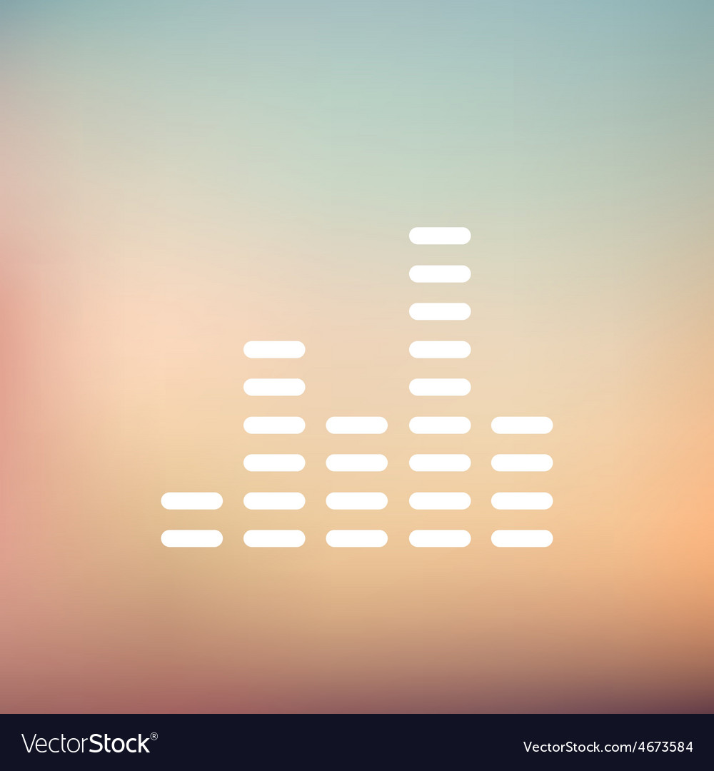 Digital equalizer thin line icon vector | Price: 1 Credit (USD $1)