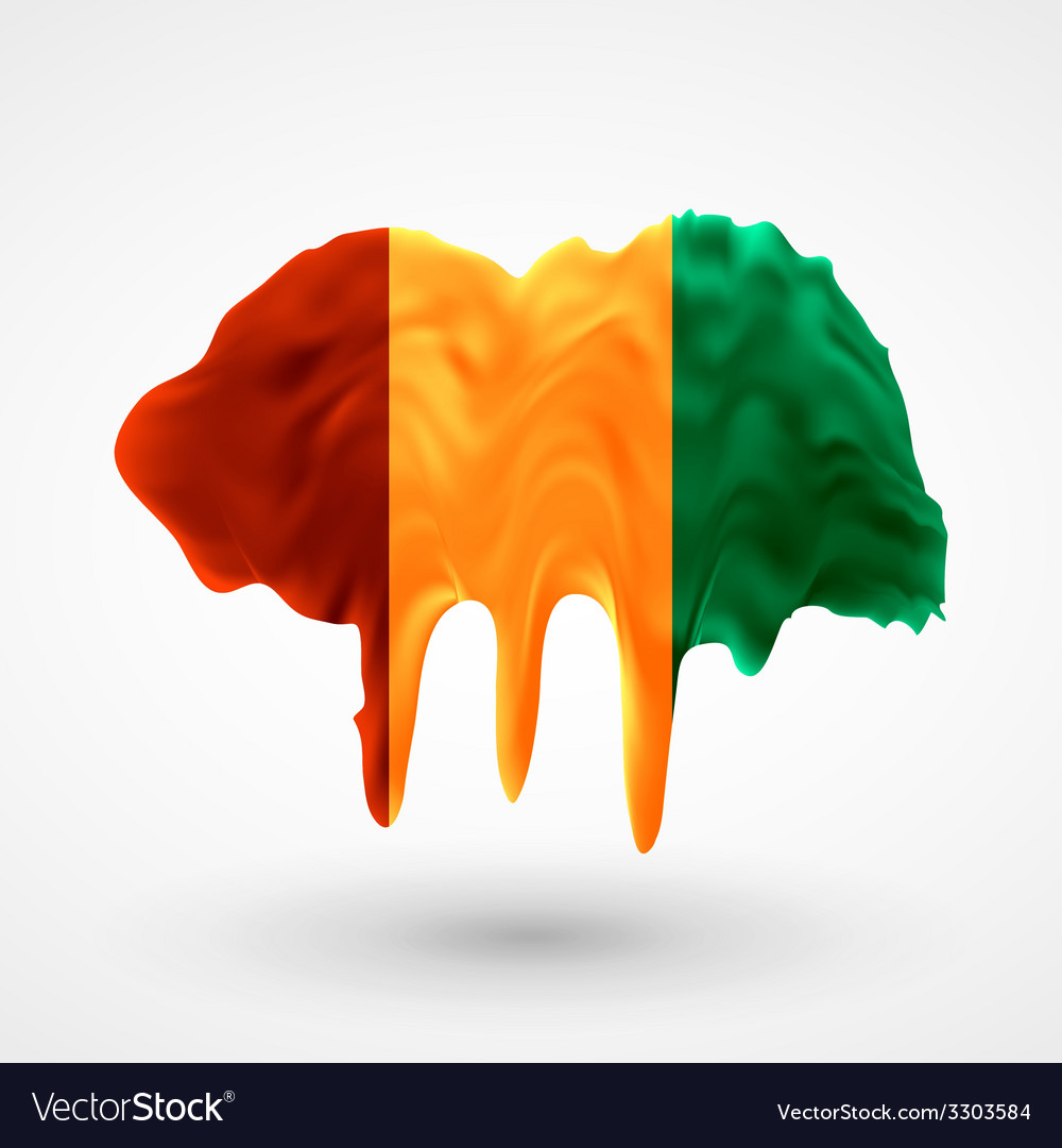 Flag of guinea painted colors vector   Price: 1 Credit (USD $1)