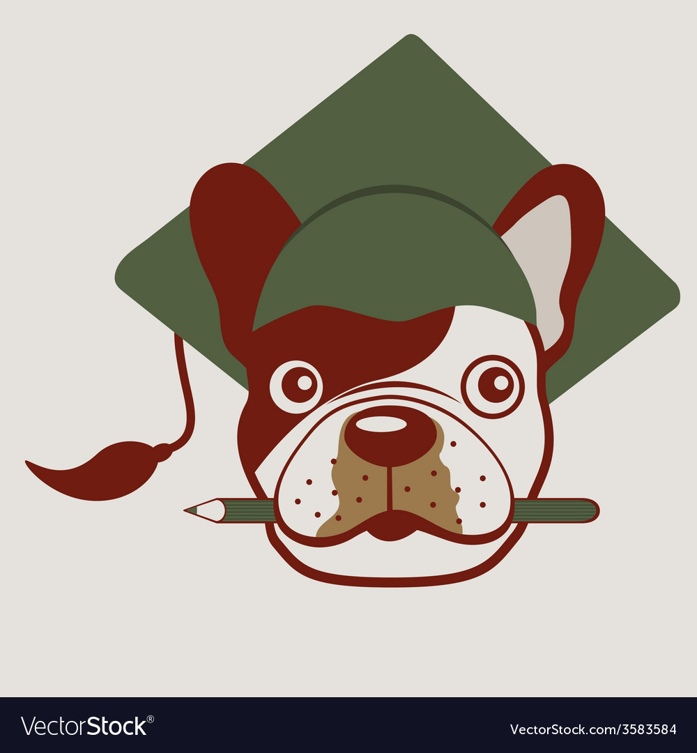 French bulldog face vector | Price: 1 Credit (USD $1)