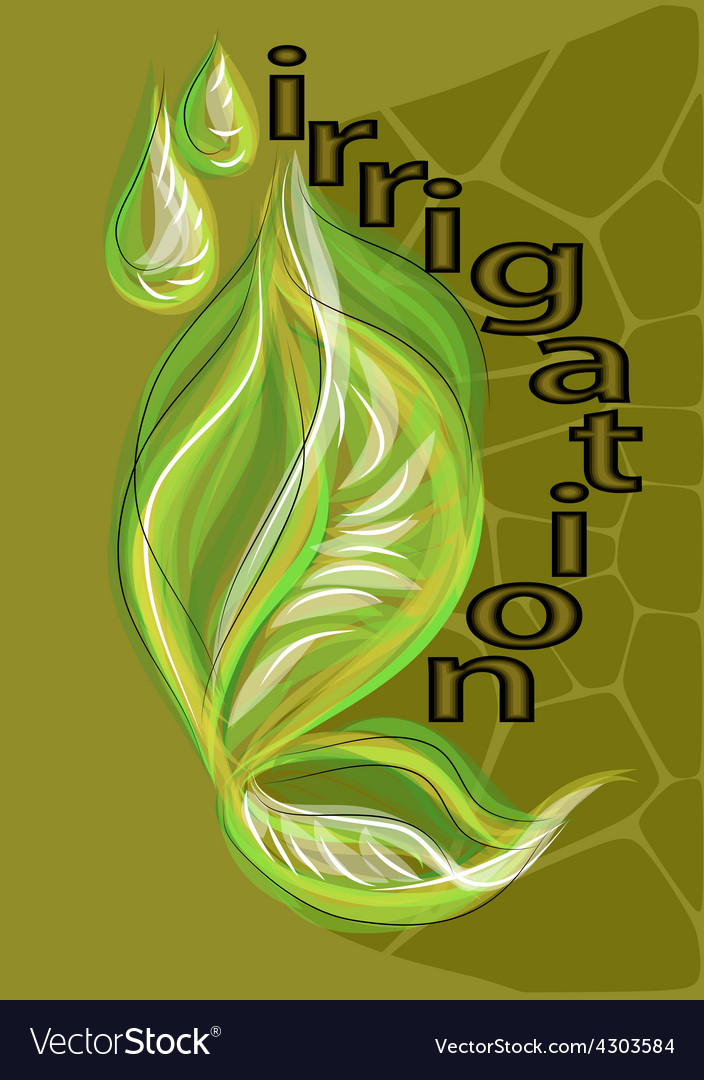 Irrigation vector | Price: 1 Credit (USD $1)