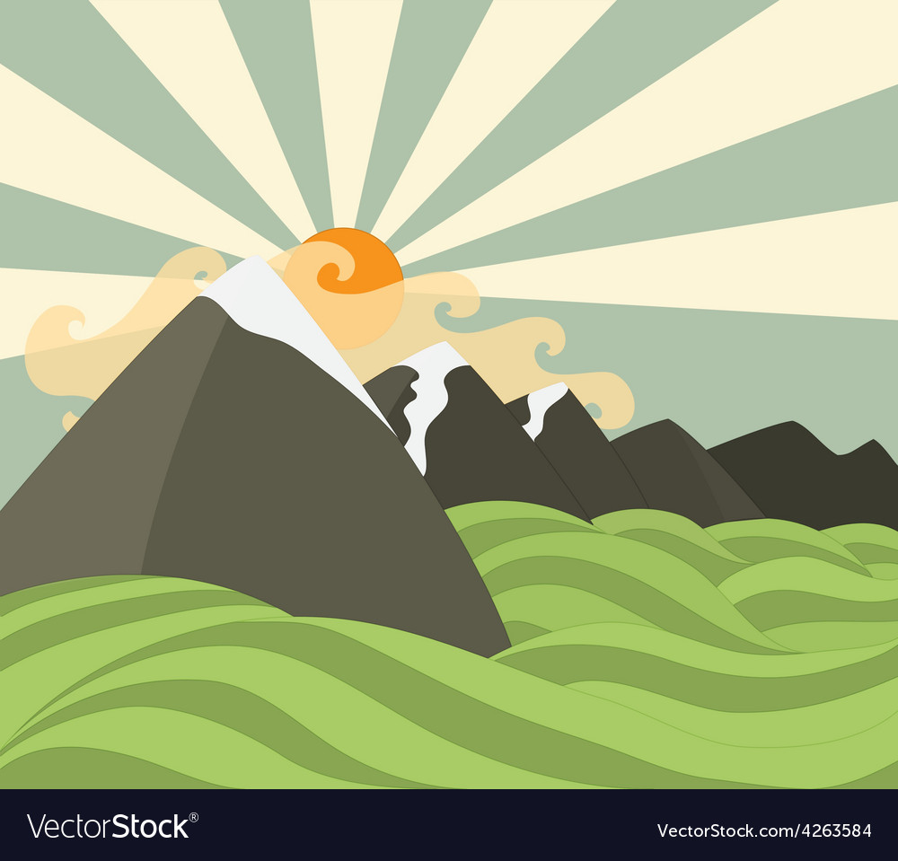 Mountains background vector | Price: 1 Credit (USD $1)