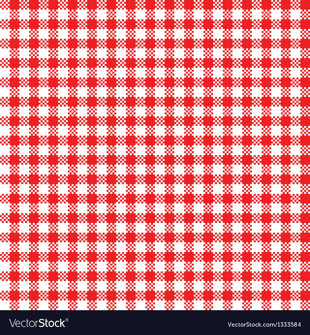 Red-white tablecloth pattern vector | Price: 1 Credit (USD $1)