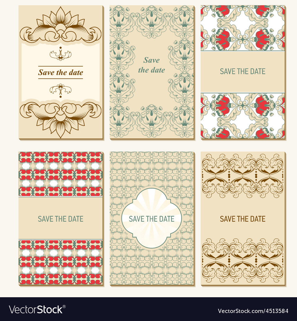 Set of card templates vector | Price: 1 Credit (USD $1)
