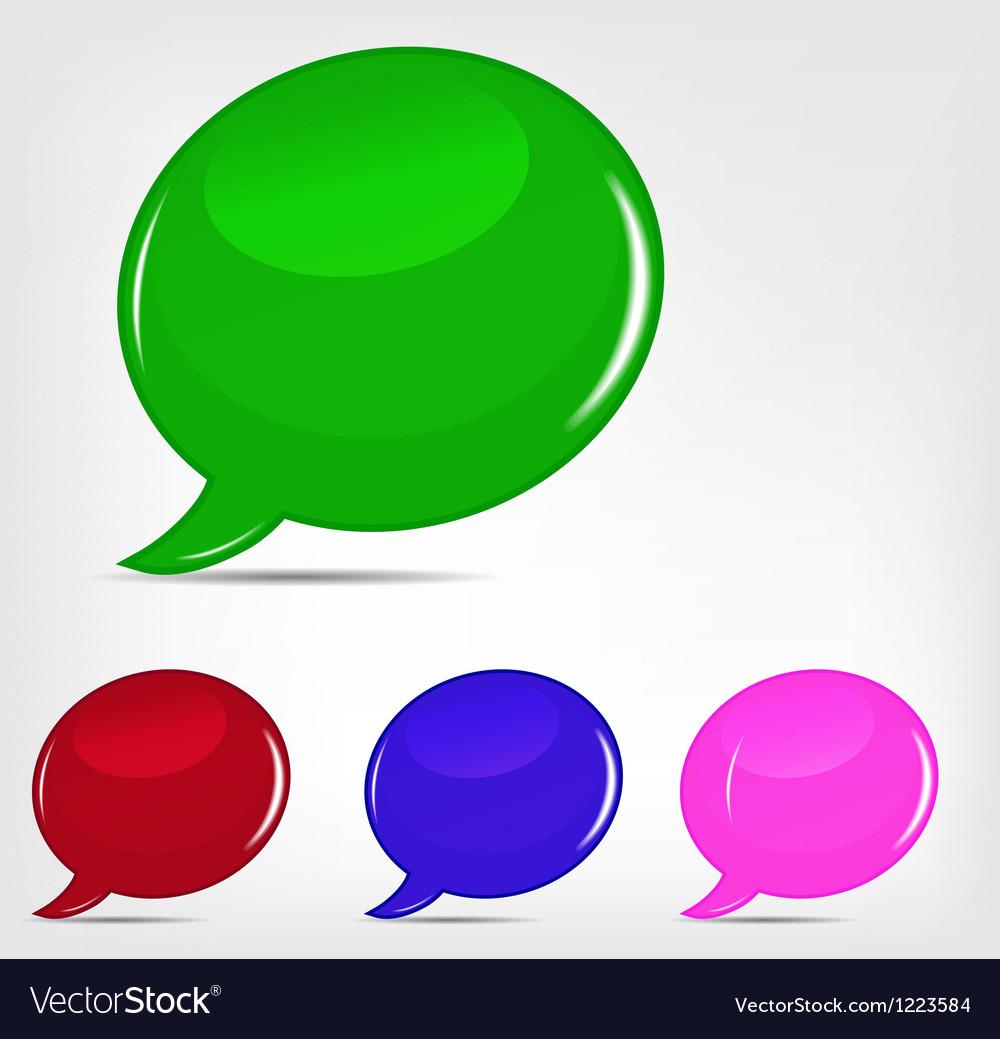 Speech bubbles set vector | Price: 1 Credit (USD $1)