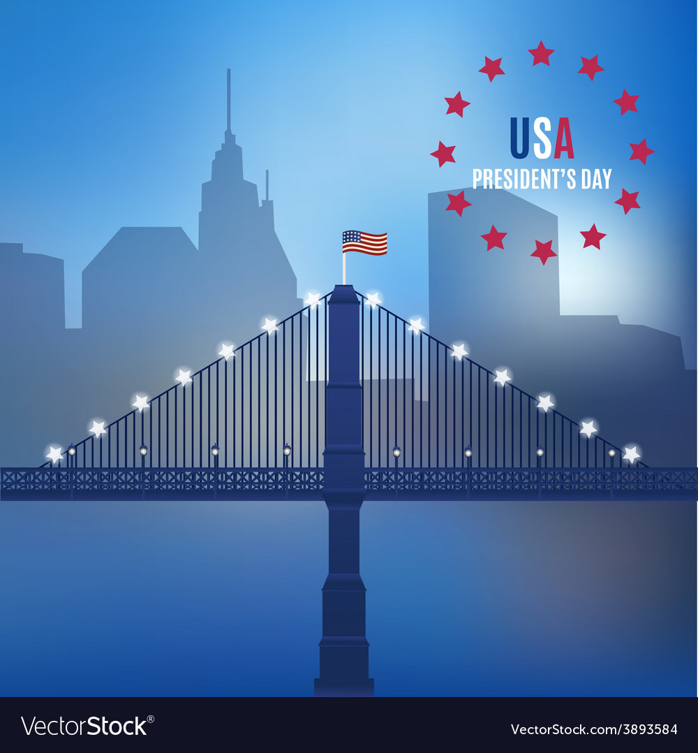 Usa design over lineal background vector | Price: 1 Credit (USD $1)