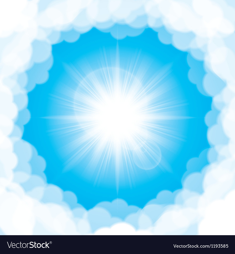 Bright shining sun vector | Price: 1 Credit (USD $1)