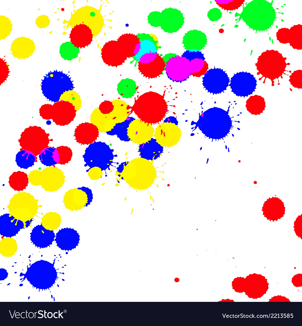 Color drop ink splatter vector | Price: 1 Credit (USD $1)
