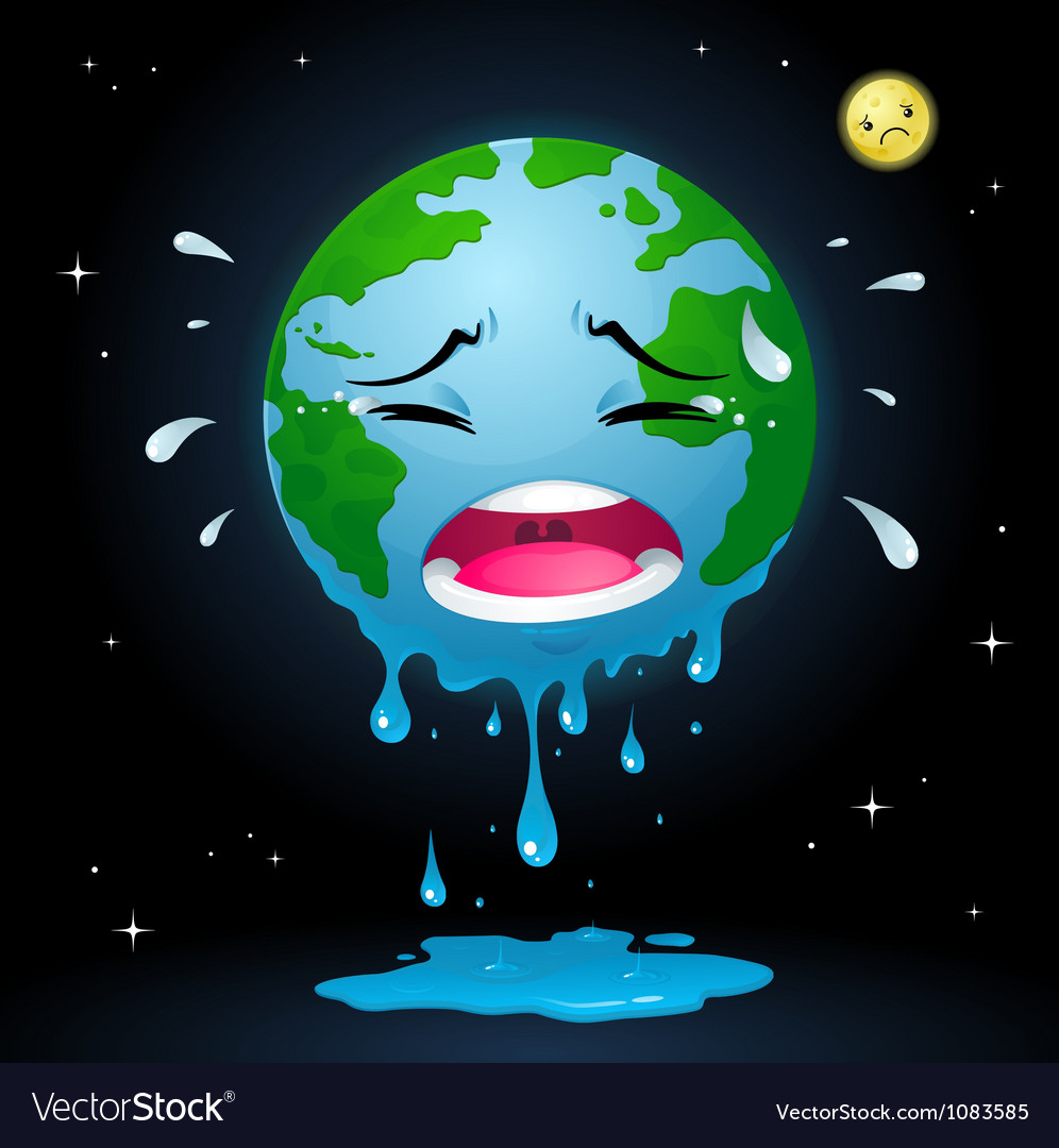 Crying earth vector | Price: 3 Credit (USD $3)