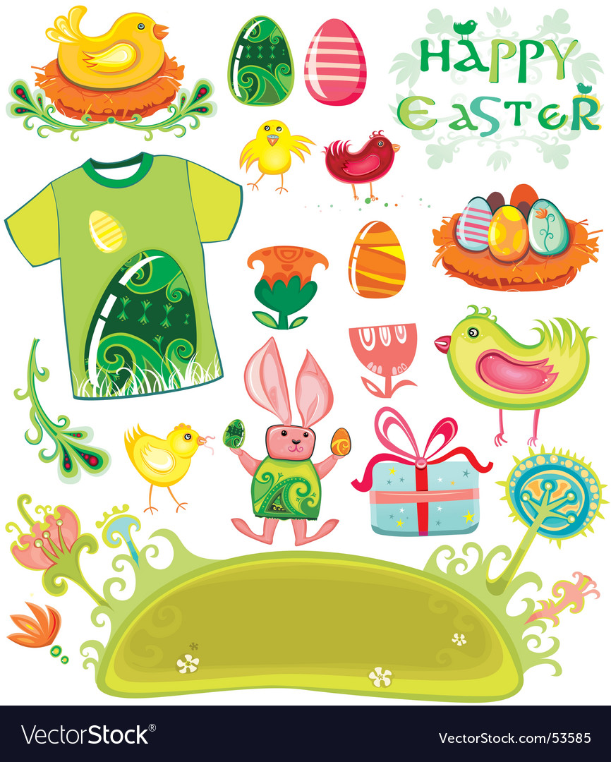 Easter holiday set vector | Price: 5 Credit (USD $5)