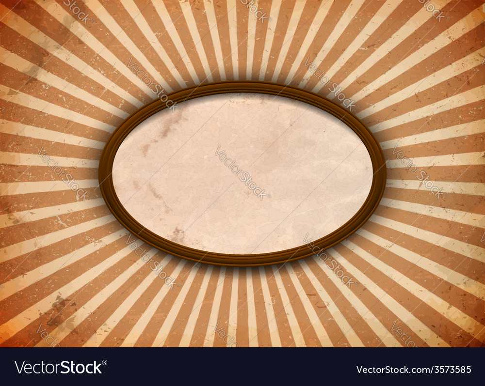Ellipse frame with rays vector | Price: 1 Credit (USD $1)