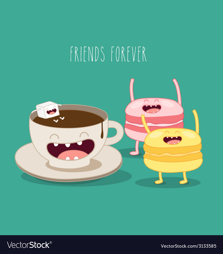 Friends forever vector | Price: 1 Credit (USD $1)