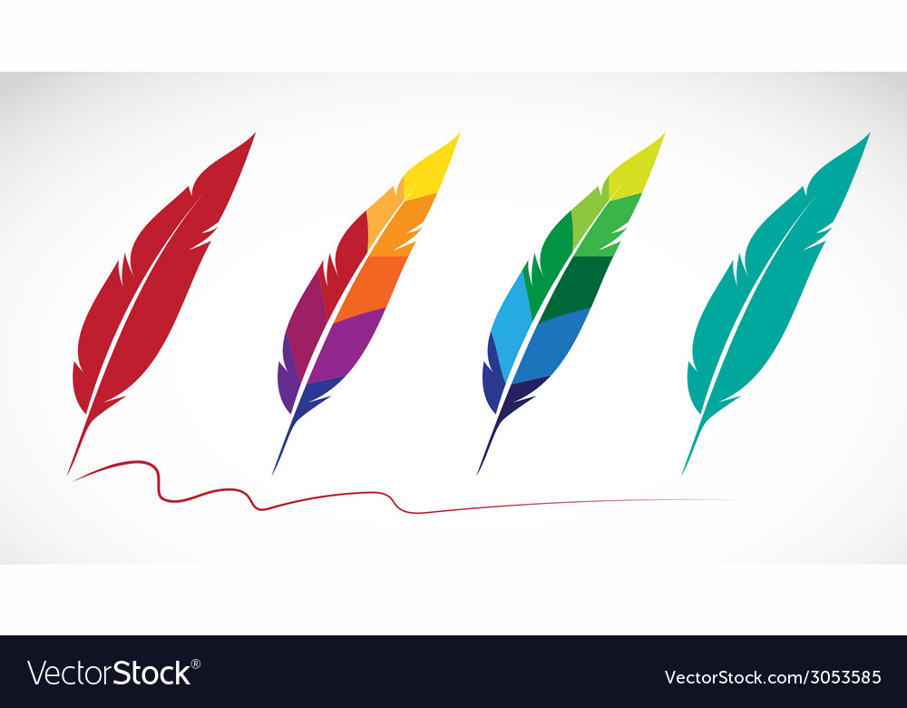 Group of feathers vector | Price: 1 Credit (USD $1)