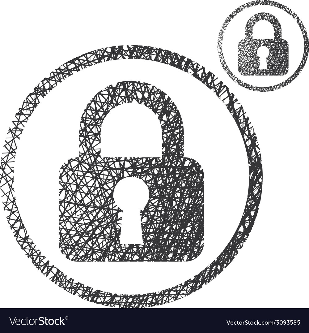 Padlock lock simple single color icon isolated on vector | Price: 1 Credit (USD $1)